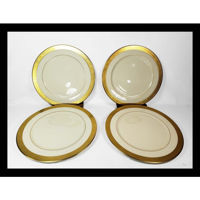 Large Lenox Westchester Gold China M139 Presidential Charger Plates - Set of 4 For Sale In Los Angeles - Image 6 of 6