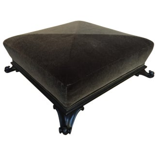 Baker Furniture Mohair Ottoman