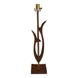 """1950s Danish Modern Teak """"Tulip"""" Table Lamp"""