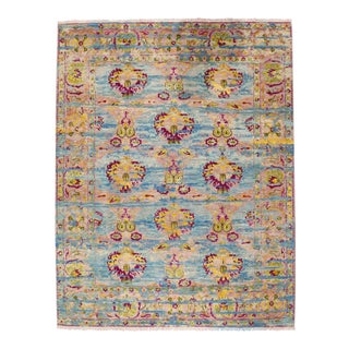 "Ibiza Indian Hand Knotted Wool Rug - 9'1"" X 11'10"""