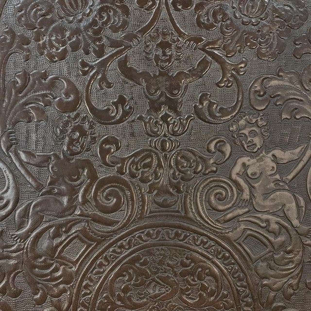 19th Century Spanish Embossed Leather Armchair For Sale - Image 11 of 13