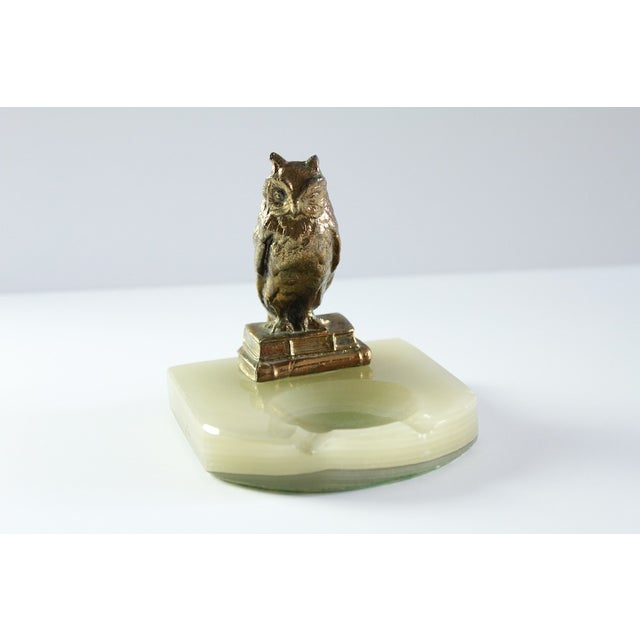 Vintage Wise Owl Upon Onyx Ash Tray - Image 2 of 6