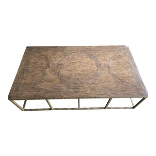 Transitional Formations Tavolino Wood & Iron Coffee Table For Sale