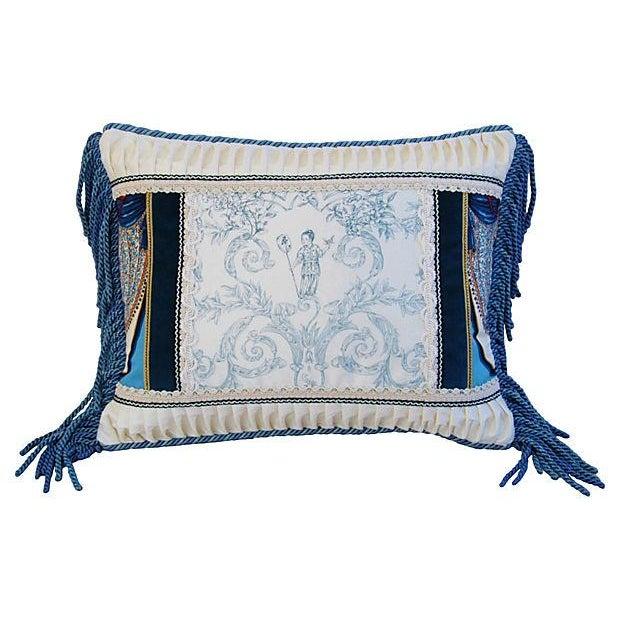 Designer Kravet Blue & White Chinoiserie Pillow - Image 4 of 6