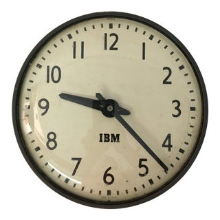 1950s Ibm Self-Regulating Wall Clock For Sale