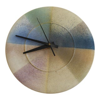 Contemporary Studio Art Pottery Clock by Lee Segal, Rhode Island For Sale