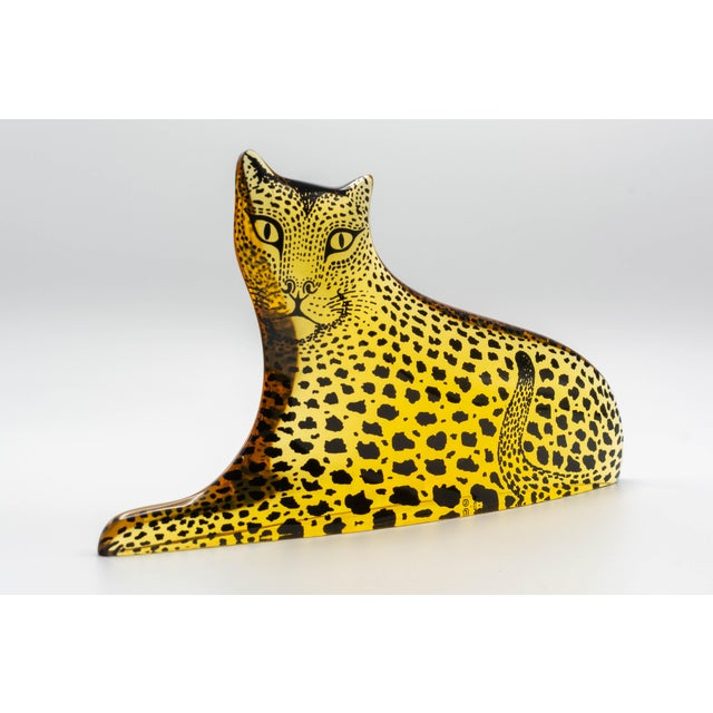 Mid-Century Modern Op Art Palatnik Lucite Leopard Sculpture For Sale - Image 3 of 7