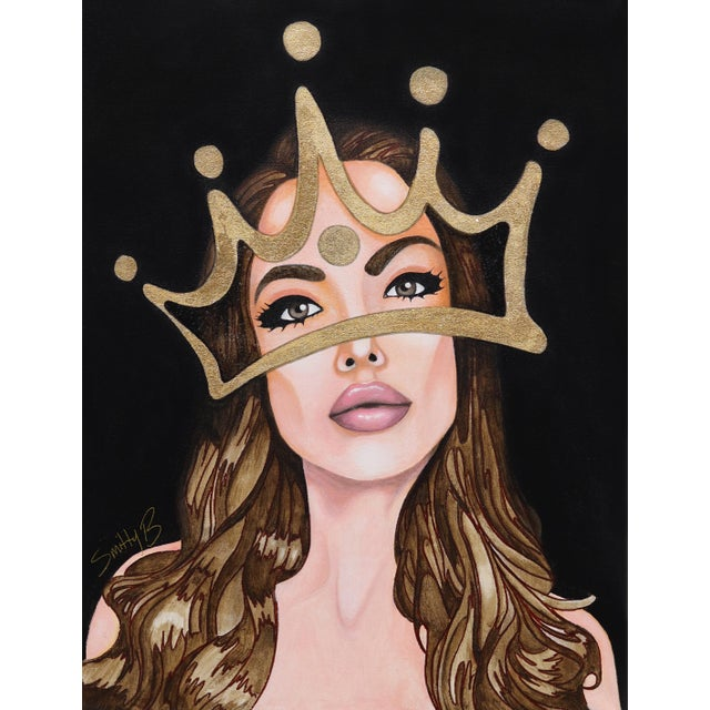 ''My Lady'' Contemporary Mixed-Media Portrait Painting by Brian Smith For Sale
