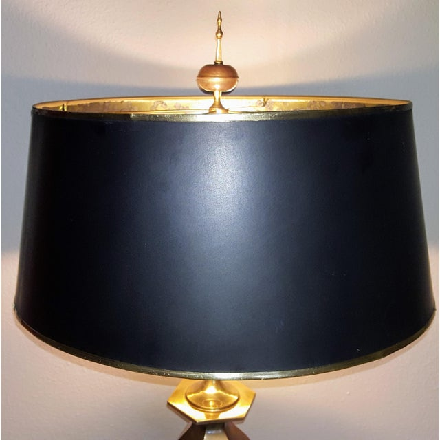 Hollywood Regency Monumental Chapman Brass Lamp For Sale - Image 3 of 5