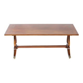 English Mahogany Cocktail / Coffee Table For Sale