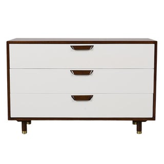 Mid Century Modern Lacquered Chest of Drawers For Sale