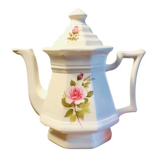 Vintage Victorian Style English Rose Tea Pot For Sale
