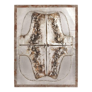 Cheung Yee 'Box 3' Embossed Textured Metal Wall Hanging For Sale