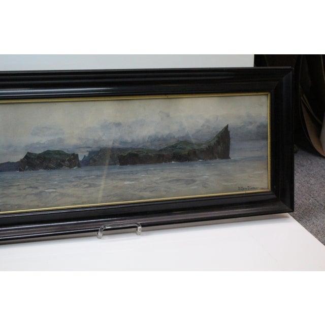 Illustration Zeno Diemer Harbor Scene Painting For Sale - Image 3 of 8