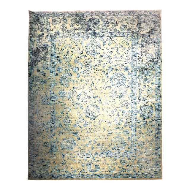 Hand Knotted Indian Rug - 8′ × 10′ - Image 1 of 11