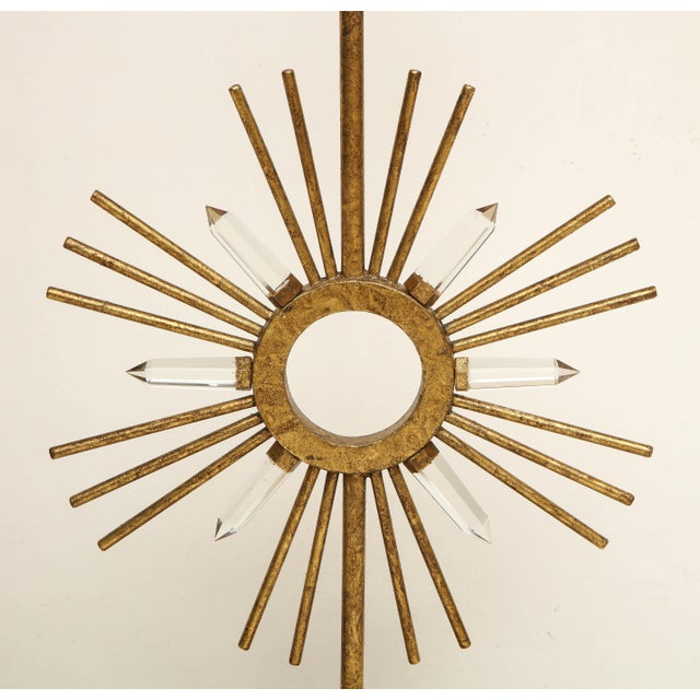 Not Yet Made - Made To Order Gilt Metal Sunburst Lamps For Sale - Image 5 of 10