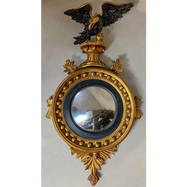 Federal Style Convex Mirror by LaBarge For Sale - Image 10 of 10