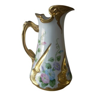 1931 Hand Painted Limoges Pitcher For Sale