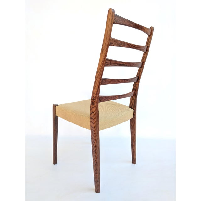 Rosewood 1960s Danish Modern Svegards Markaryd Rosewood Ladder Back Dining Chairs - Set of 4 For Sale - Image 7 of 13