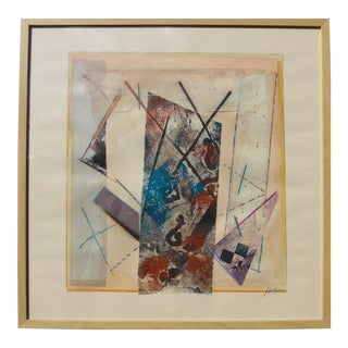 """Linear Abstract"" Collage by Martha Holden For Sale"