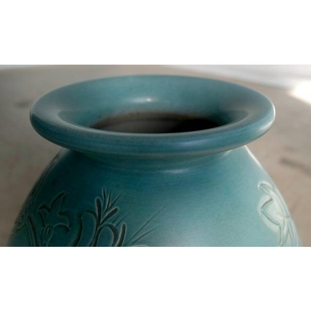 Folmer Gross for Knabstrup Danish Modern Ceramic Vase For Sale - Image 5 of 7