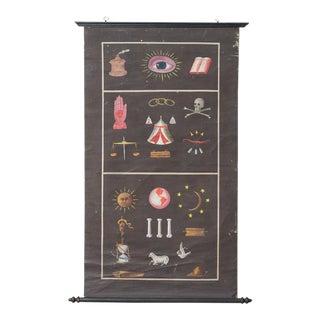 Antique Masonic Lodge Chart