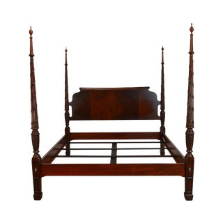 Ethan Allen King Size Laurel Mahogany Poster Bed For Sale
