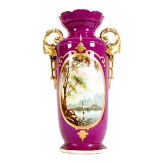 19th Century Old Paris Porcelain Decorative Vase For Sale