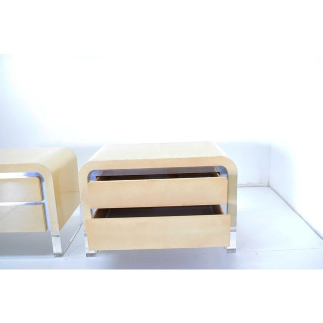Vladimir Mid-Century Modern Kagan Chests of Drawers or Nightstands - a Pair For Sale - Image 9 of 11