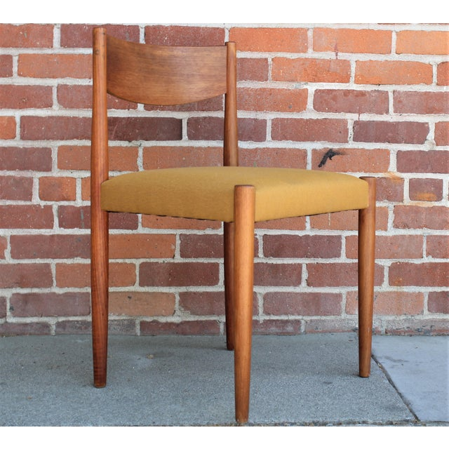 Yellow 1960s Vintage Danish Modern Teak Dining Chairs- Set of 4 For Sale - Image 8 of 13
