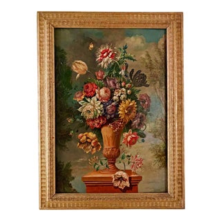 19th Century Flemish Floral Still Life, Oil on Canvas on Panel For Sale