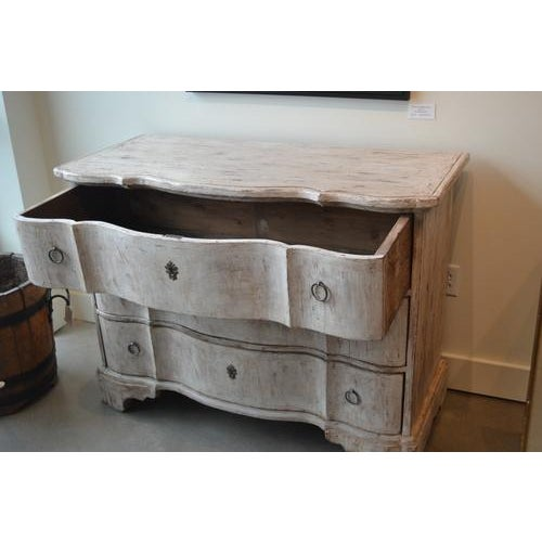 Italian Italian White Painted Three Drawer Chest For Sale - Image 3 of 12