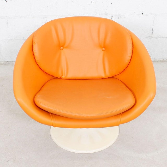 60s Orange Swivel Pod Chairs by Overman, Sweden - Pair For Sale - Image 5 of 7