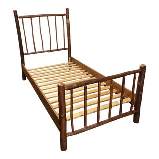 Twin Size Custom Hickory Branch Twin Bed Frame For Sale