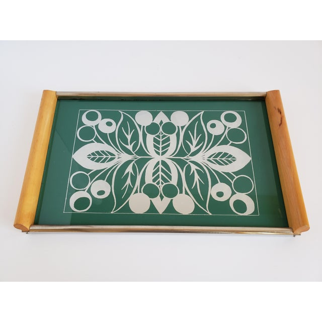 1950s Mid Century Modern Serving Tray For Sale - Image 5 of 12