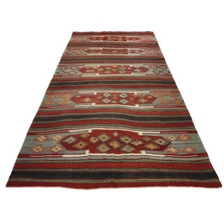 Vintage Sivas Kilim 6'5 X 12'10 For Sale