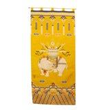 Image of Yellow Tibetan Elephant Khaden Style Rug For Sale