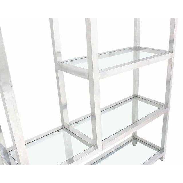 Large Mid Century Modern Multi Tear Level Shelf Wall Unit For Sale - Image 4 of 6
