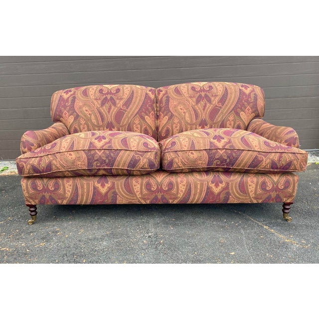 Metal George Smith Standard Arm Sofa For Sale - Image 7 of 7