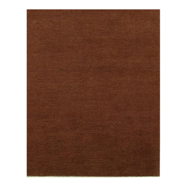"""Over Dyed Color Reform Cordelia Brown Wool Rug - 9'0"""" x 11'10"""" For Sale"""