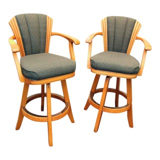 High Back Chairs - A Pair For Sale