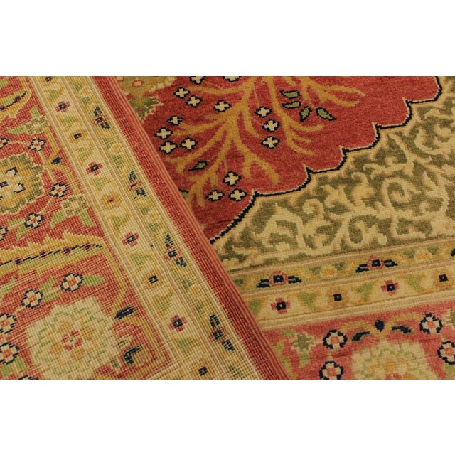 Shabby Chic Istanbul Luke Rust/Gold Turkish Hand-Knotted Rug -4'10 X 5'11 For Sale In New York - Image 6 of 8