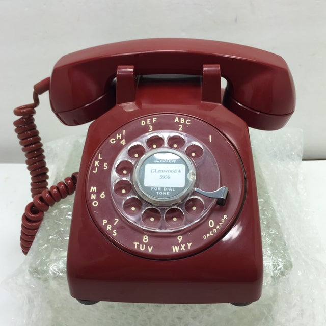 Western Electric Red Rotary Dial Telephone - Image 2 of 11