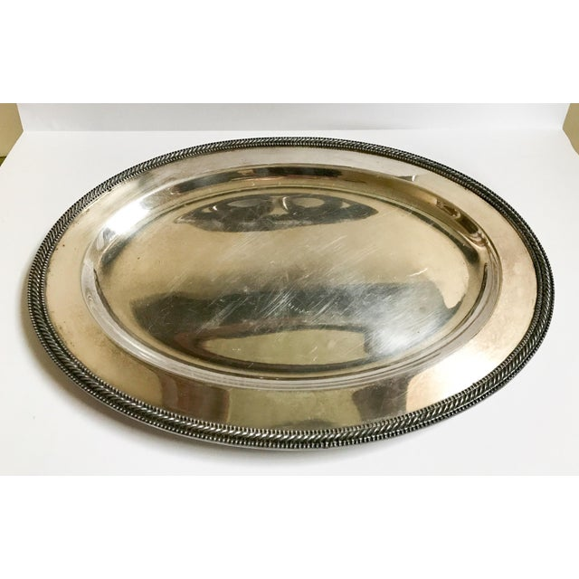Vintage silverplate EPNS tray with markings.