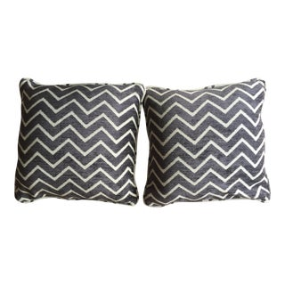 Schumacher Chenille Pillows - A Pair For Sale