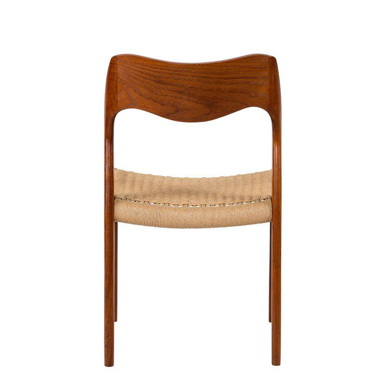 Set Of Eight Teak Niels Moller #71 Dining Chairs   Image 7 Of 10
