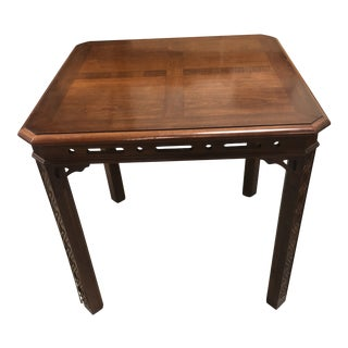 Asian Modern Mahogany Corner Table For Sale