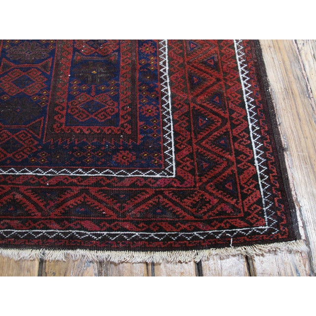 Blue Antique Baluch Long Rug For Sale - Image 8 of 9