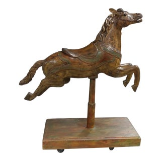 E. Joy Morris -Beautiful 19th Century Polychrome Carousel Horse For Sale