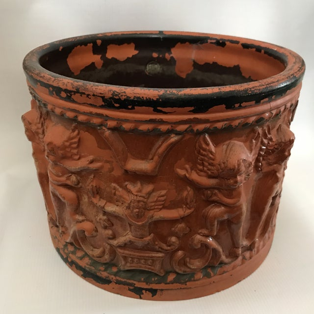 Baroque Terracotta Figural Relief Pot For Sale - Image 3 of 11